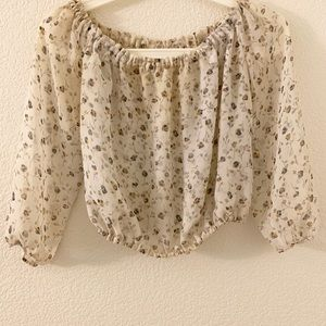Sheer off the shoulder top from Brandy Melville